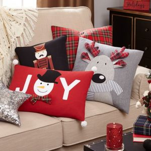Christmas Decorative Pillows, Inserts & Covers